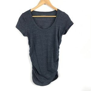 Caslon Short Sleeve Tee Ruched Sides 3452
